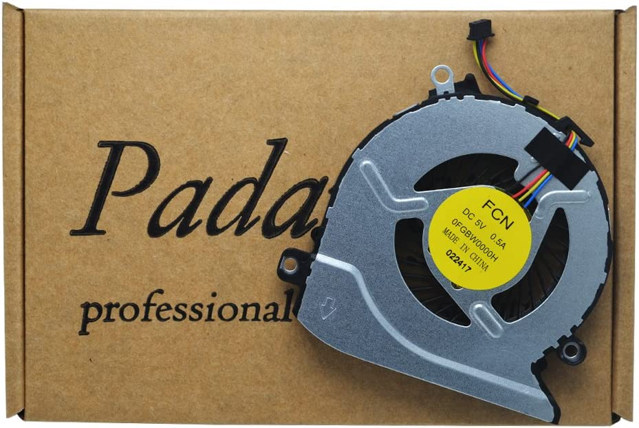 Padarsey Laptop CPU Cooling Fan For HP Pavilion 17-G100 17-G101DX 17-G179NB 17-G053US 17-g119dx 17-g121wm 17-G037CY 15-AB 15-AB000 15-AB100 15-AB273CA 15T-AB200 15-ABXXX series 806747-001 812109-01