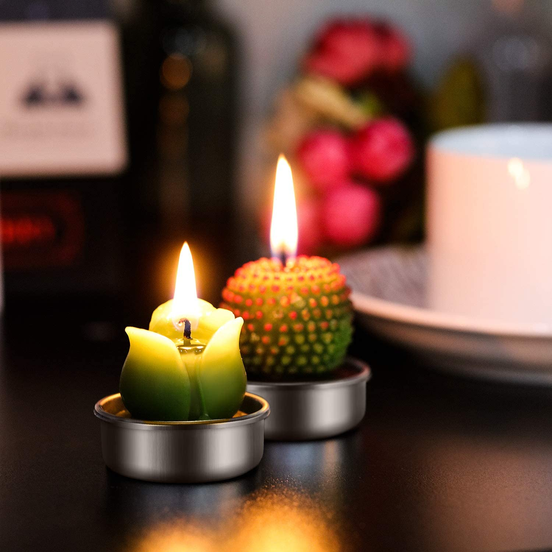 12 St/ücke Kaktus Teelicht Kerzen Handgefertigt Zart Saftig Kaktus Kerzen f/ür Party Hochzeit Spa Dekoration Geschenke Stil A