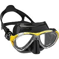 Cressi Eyes Evolution Crsytal Maske Hypoalerjik silikon, Çok Yumuşak ve Rahat, Yüzde İz Bırakmayan Tasarım Maske Siyah/Sarı Tek Beden