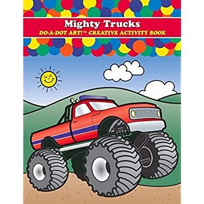 Do A Dot Art DADB375 ! Mighty Trucks Creative Activity and Coloring Book: Arts, Crafts & Sewing