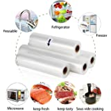 Vacuum Food Sealer Roll Bags 28cm X 5m Saver Seal Storage Heat Commercial Grade Bag Rolls for Food Saver and Sous Vide (4)