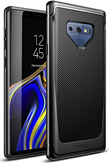 the latest e7395 321b7 Galaxy Note 9 Case, Poetic Karbon Shield [Shock Absorbing] Slim Fit TPU  Case with [Carbon Fiber Texture] for Samsung Galaxy Note 9 Black