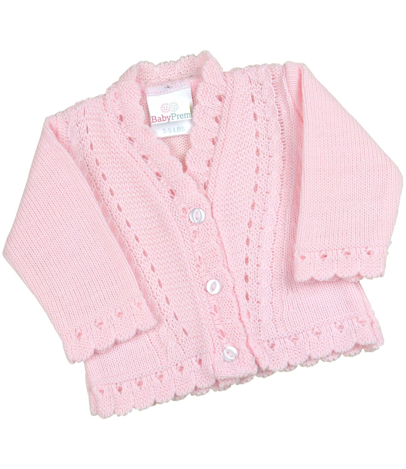 BabyPrem Premature Baby Cardigan Jacket Boy Girl Buttons Soft Knitted 3-8lb BEE027