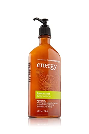 Bath Body Works Aromatherapy Energy Body Lotion – Lemon Zest 6.5 Oz.