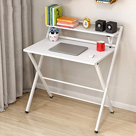 ZHIRONG Escritorio Plegable Mesa de Estudio Plegable Simple ...