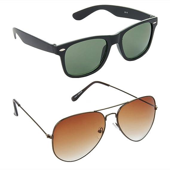 8889193be7cc HRINKAR Wayfarers Green Lens Black Frame Sunglasses