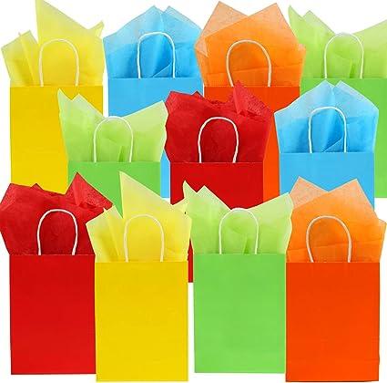 Amazon.com: Coobey 20 bolsas de papel kraft para fiestas con ...