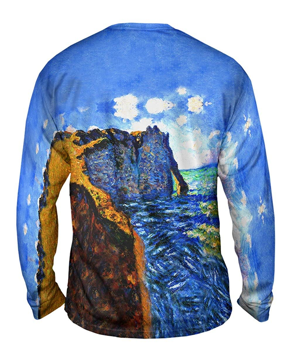 Yizzam- Claude Monet 1882 The Manneport -TShirt- Mens Long Sleeve