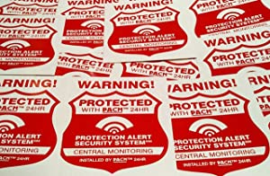 14 Home Security System Alarm Decals Stickers