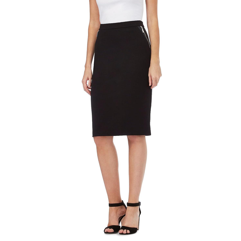 Star By Julien Macdonald Womens Black Zip Sides Skirt