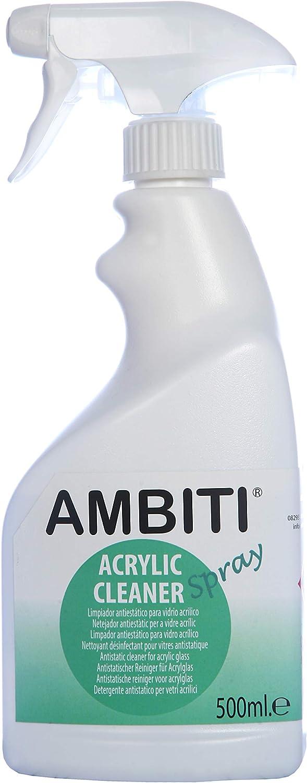 Ambiti Acrylic Cleaner 500 ml, Limpiador antiestático de Cristales y claraboyas acrílicas de autocaravanas y caravanas