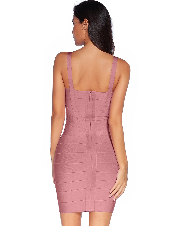 52bf2ce40dd15 Amazon.com: Meilun Women's Celebrity Bandage Bodycon Dress Strap Party  Pencil Dress: Clothing