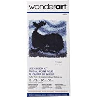 """WonderArt - Juego de Ganchos para Cerrojo, Big Blue Whale 12 X 12, 12"""" by 12"""", 1"""
