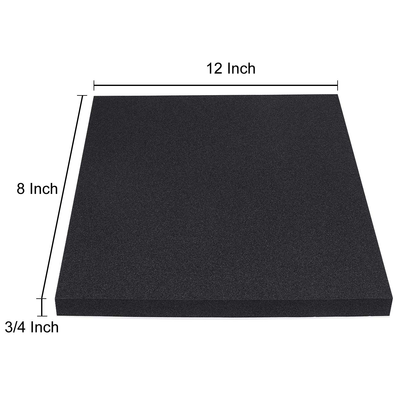 3//8 Thick x 12 Wide x 24 Long Fire Retardant Neoprene Foam Sheet No Adhesive