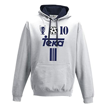 KiarenzaFD Sudadera Capucha Bico Fútbol Vintage Luis Madrid Figo 10 Temporada 01 – 02 Champion,
