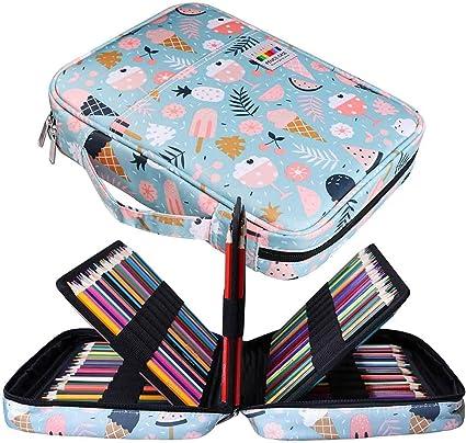 Jakago Estuche Para 220 Lápices de Colores Gran Capacidad Organizador de Bolígrafos Bolsa Impermeable Para Lápices de Acuarela y Marcadores y Bolígrafos de Gel Regalo Para Artistas Estudiantes: Amazon.es: Oficina y papelería