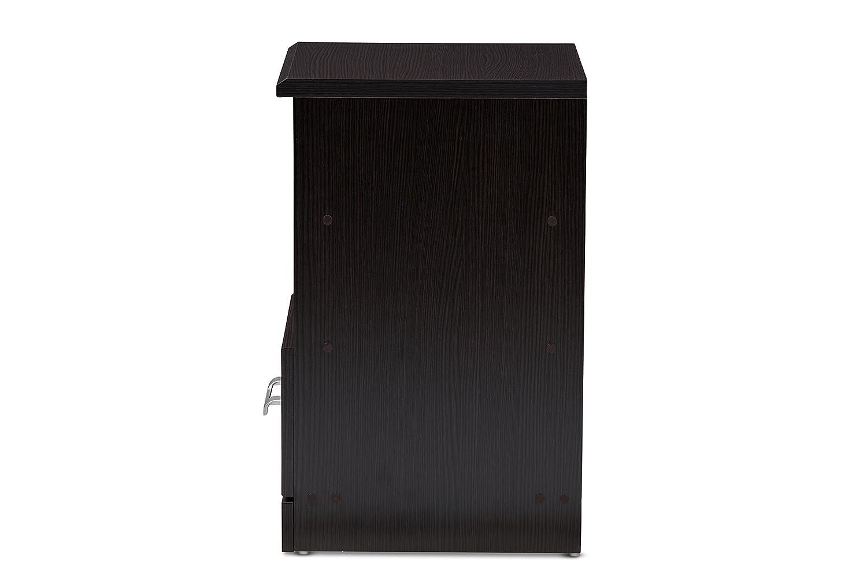 Baxton Studio 146-424-A8289-AMZ Sarcelles Nightstand Wenge Dark Brown Wholesale Interiors