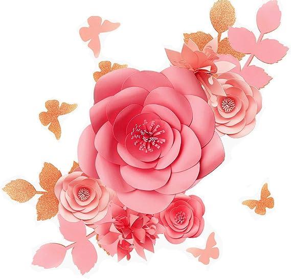 Fonder Mols 3d Papierblumen Dekorationen Für Die Wand Blush Pink 16 Stück