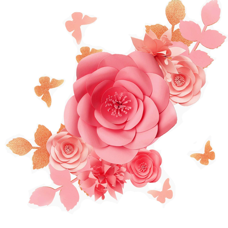 Fonder Mols 3D Paper Flowers Decorations for Wall (Blush Pink, Set of 16), Paper Flower Backdrop, Nursery Decor, Giant Paper Flowers, Wedding Centerpiece