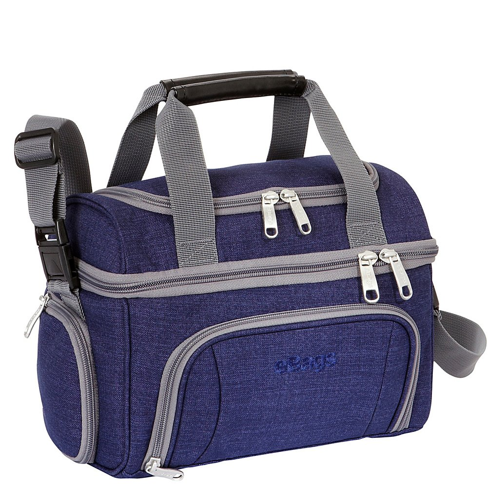 eBags Crew Cooler JR. – Soft Sided Insulated Lunchbox – For Work, Travel Weekends – Brushed Indigo