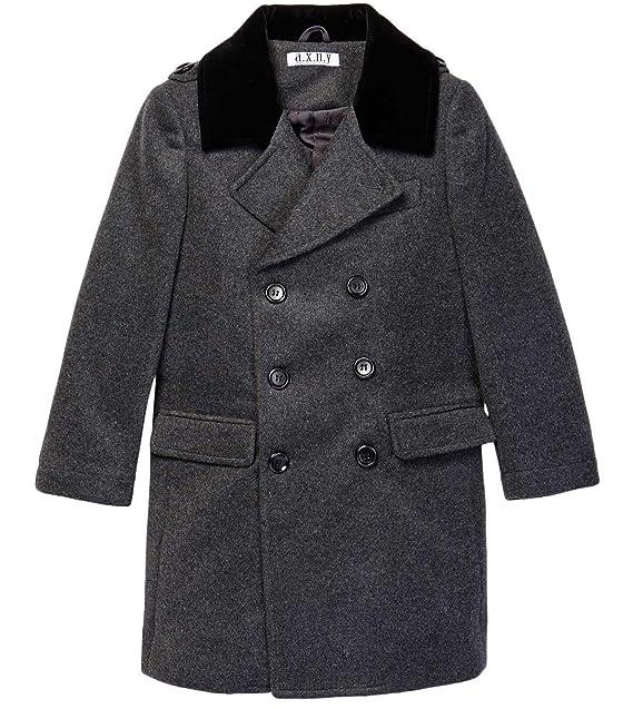 45a04645f Isaac Mizrahi Boy s 2-20 Velvet Collar Quilt Lined Wool Blend ...