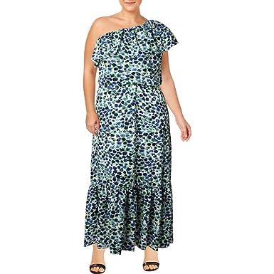 56e9619a0fc Image Unavailable. Image not available for. Color  LAUREN RALPH LAUREN  Womens One Shoulder Ruffled Maxi Dress ...