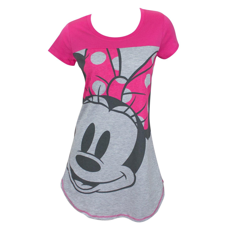 Disney Junior Night Shirt Mickey & Minnie Mouse Print (Pink, Small)