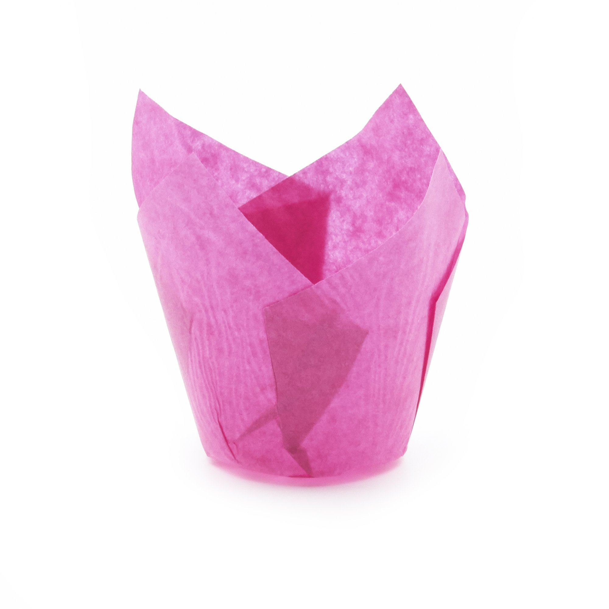 Hot Pink Tulip Baking Cups, Extra Large, Pack of 400 by Ecobake