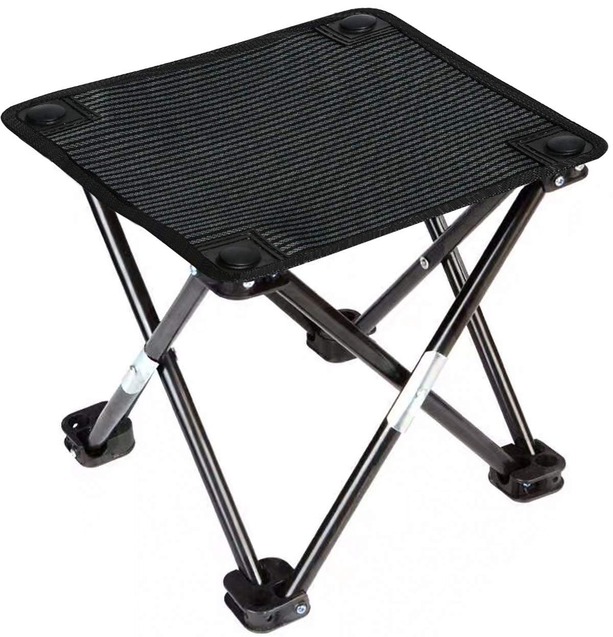 Vimi Portable Folding Camping Stool Ultralight Compact Camp Footrest Stools for Outdoor Fishing Hiking Backpacking Travelling Outdoor Little Stools (Black) by Vimihousewares