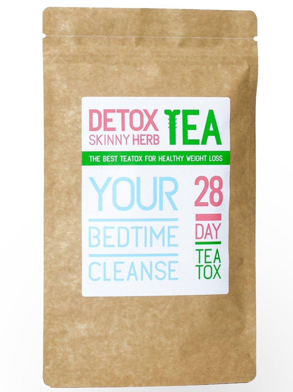 28 Days Bedtime Cleanse Tea: Detox Skinny Herb Tea - Effective Detox Tea, Body Cleanse, Reduce Bloating, Natural Weight Loss Tea, Boost Metabolism, Appetite Suppressant, 100% Natural by Detox Skinny Herb Tea