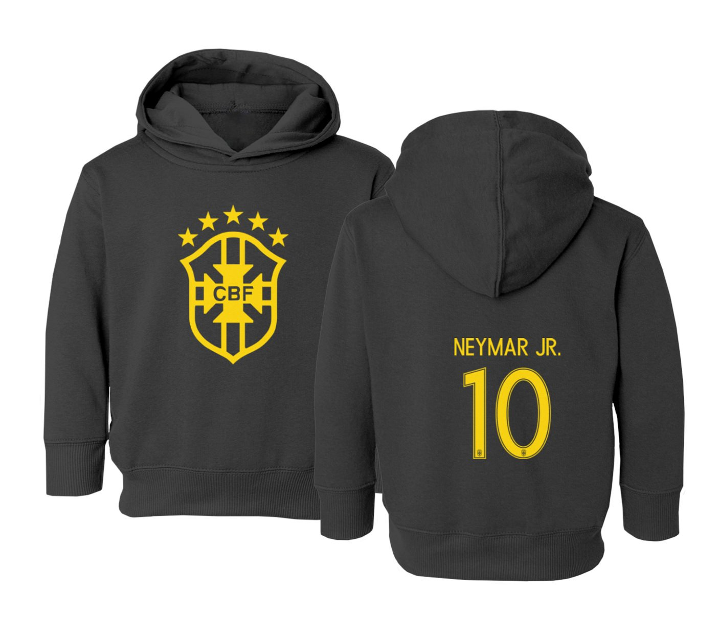 Amazon.com  Tcamp Brazil 2018 National Soccer  10 NEYMAR JR. World  Championship Little Kids Girls Boys Toddler Hooded Sweatshirt  Sports    Outdoors 00d46feae