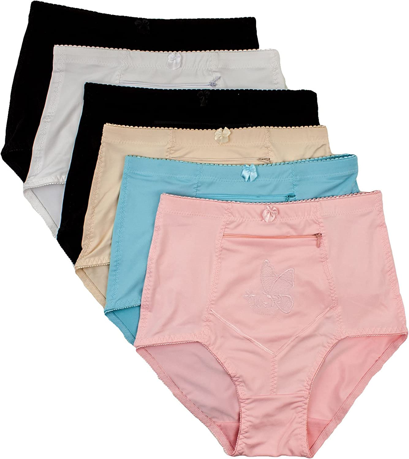 Yours Clothing Women/'s Plus Size 5 Pack Pink Butterfly Full Briefs
