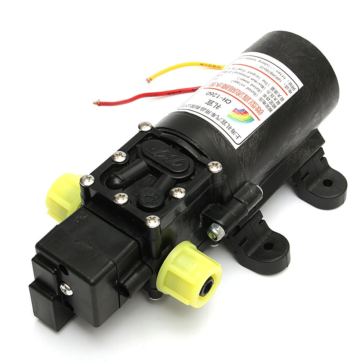 12V High Power Electric Auto Diaphragm Water Pump 5L/min 100 PSI Pressure Switch