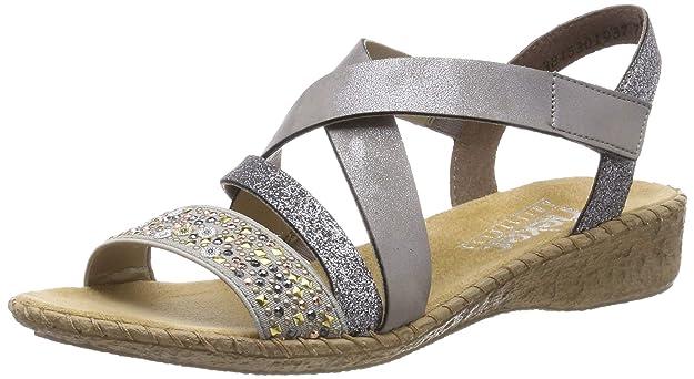 Rieker Damen 61663-42 Geschlossene Sandalen