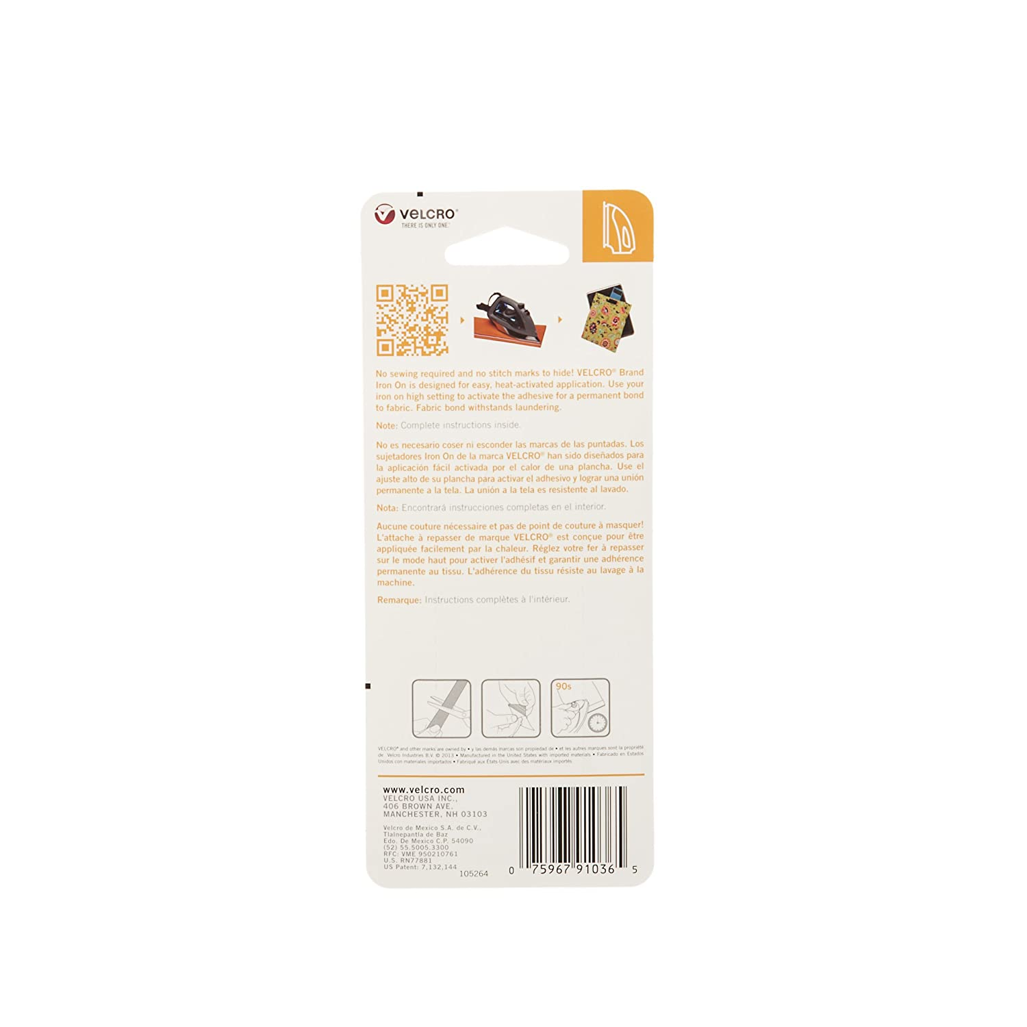Amazon.com : VELCRO Brand For Fabrics   Iron On Tape for Alterations and Hemming   No Sewing or Gluing   Heat Activated for Thicker Fabrics   Cut-to-Length ...