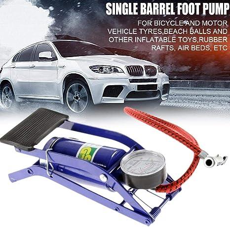 Katurn Fußkompressor Luftpumpe Manuell Manometer Inflation Pumpe Tragbare Reifenpumpe Luftverdichter Für Fahrrad Motorrad Inflatables Küche Haushalt