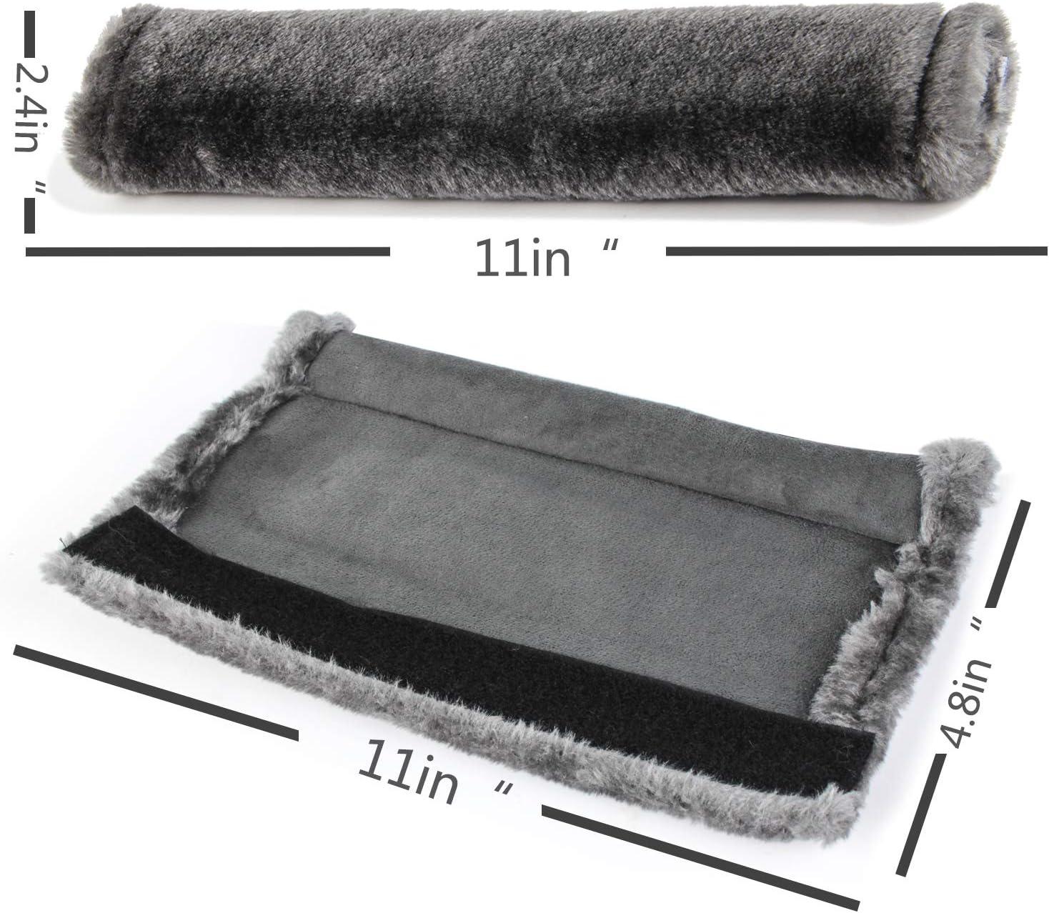 Soft Faux Sheepskin Wool Universal Seatbelt Cover for More Comfortable Driving,Multipurpose for Handbag Carmera Backpack Straps,4pc(Black) Moonet Auto Seat Belt Shoulder Pad