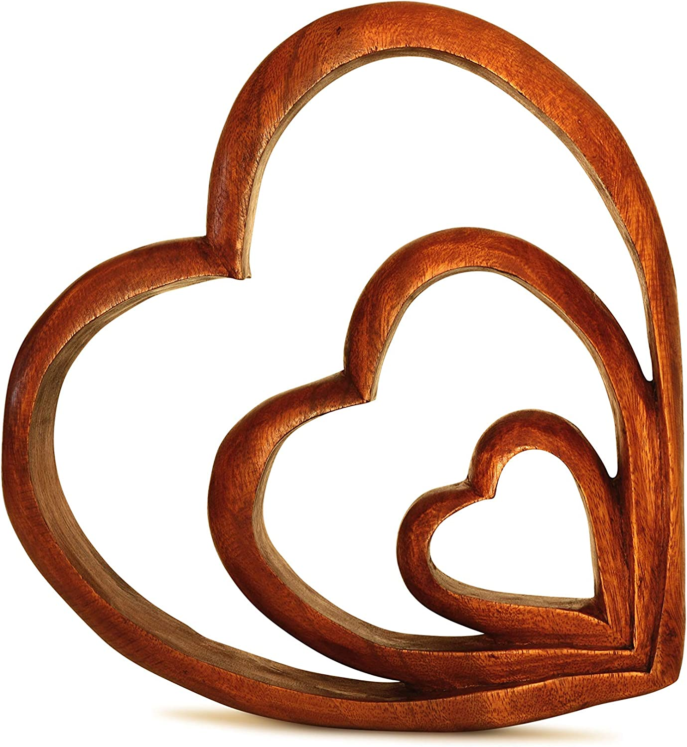 G6 Collection Wooden Handmade Abstract Sculpture Statue Handcrafted Hearts Of Love Gift Art Decorative Home Decor Figurine Accent Decoration Artwork Hand Carved Hearts Of Love Kitchen Dining Amazon Com