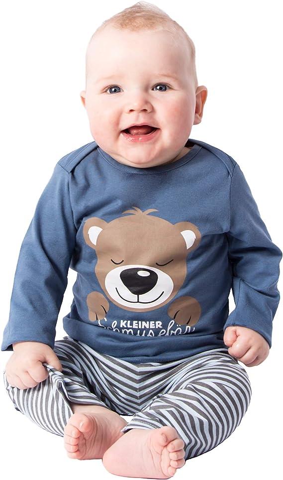 Pijama de Dos Piezas para niño, de algodón, Largo, Pijama de bebé ...