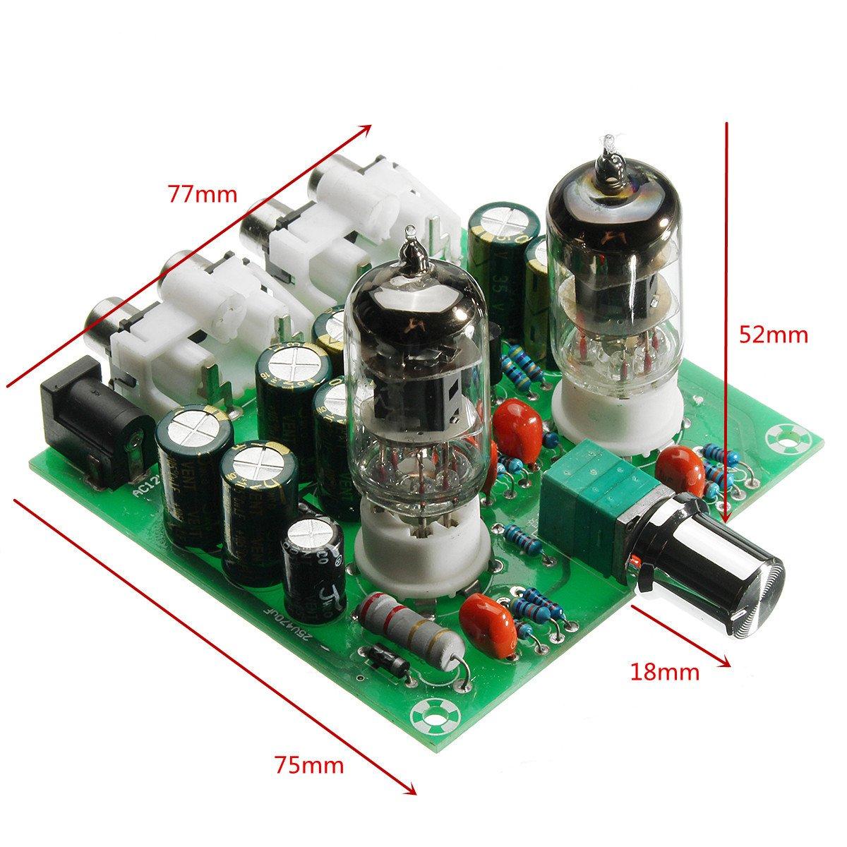 SODIAL CA 12V 6J1 Tubo de preamplificador de valvula Tablero de preamplificador Caja de bufer del amplificador de auriculares: Amazon.es: Electrónica