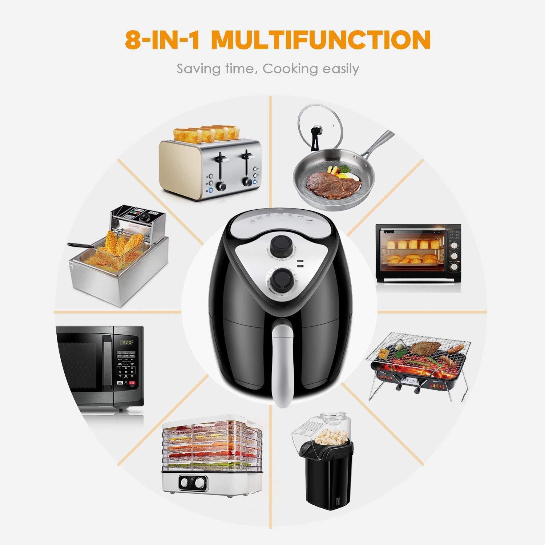 Freidora eléctrica sin aceite sin grasa freidora de aire caliente profesional: Amazon.es: Hogar