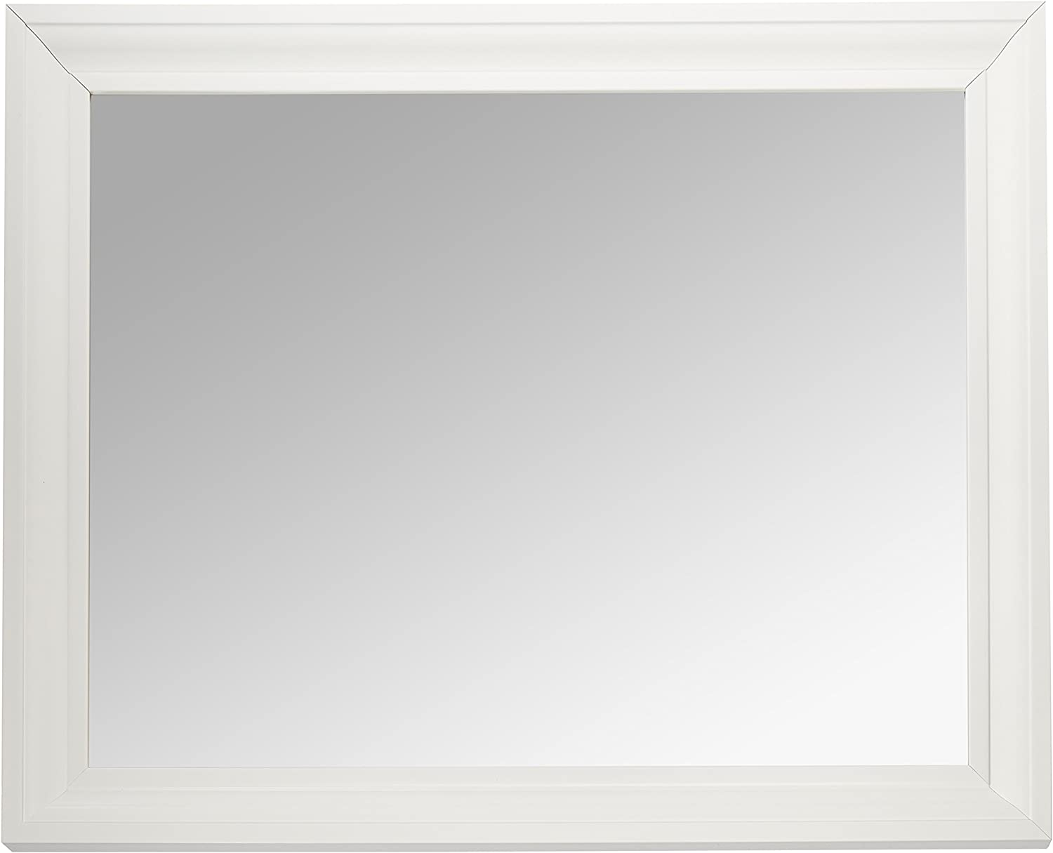 Amazon Com Mcs 21 5x27 5 Inch Rectangular Wall Mirror 26 5x32 5 Inch Overall Size White 20453 Home Kitchen