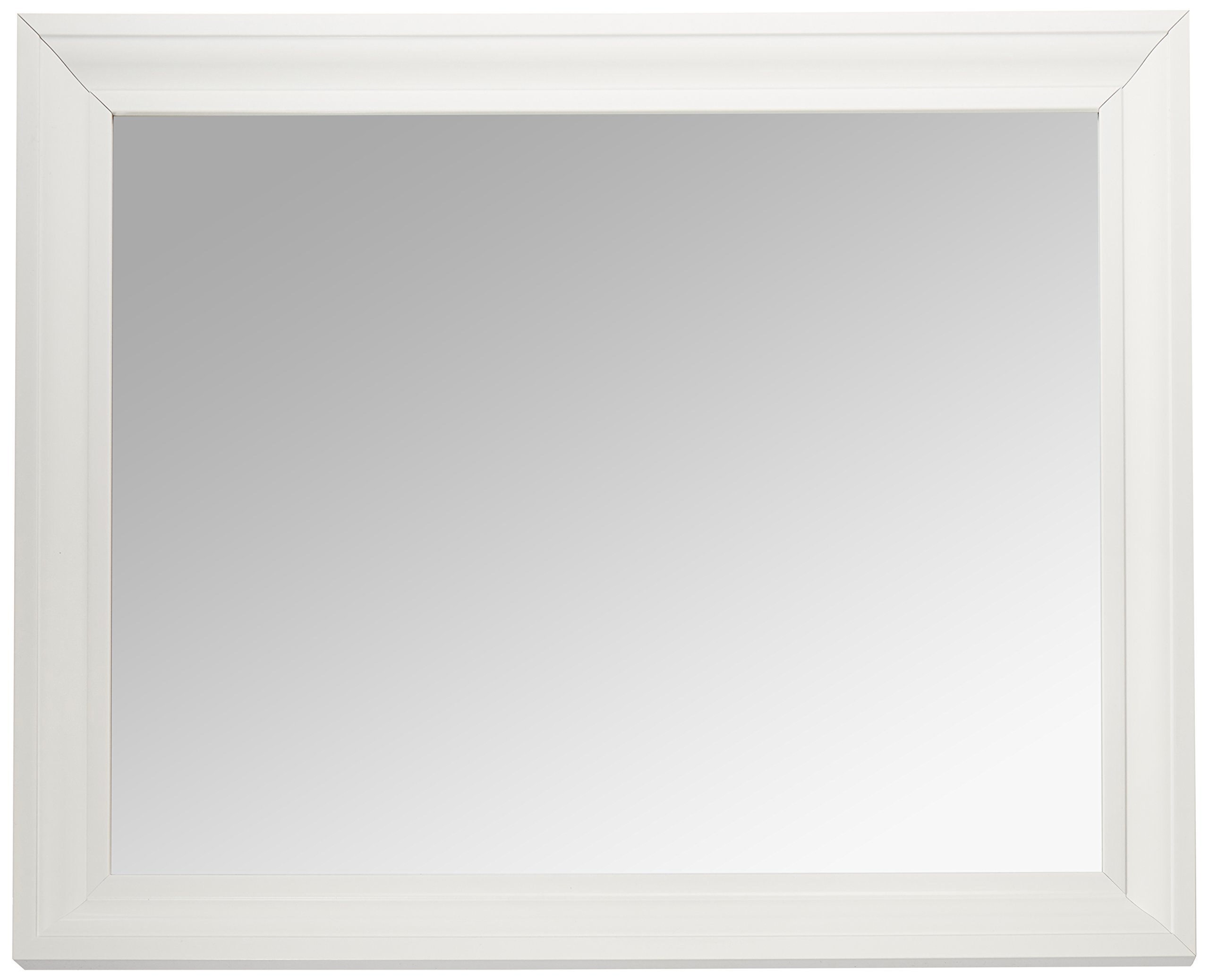 MCS 21.5x27.5 Inch Rectangular Wall Mirror, 26.5x32.5 Inch Overall Size, White (20453) by MCS