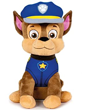 PAW PATROL XXL 60 cm Peluche Chase de la Policía Pastor Perro de Peluche de Juguete