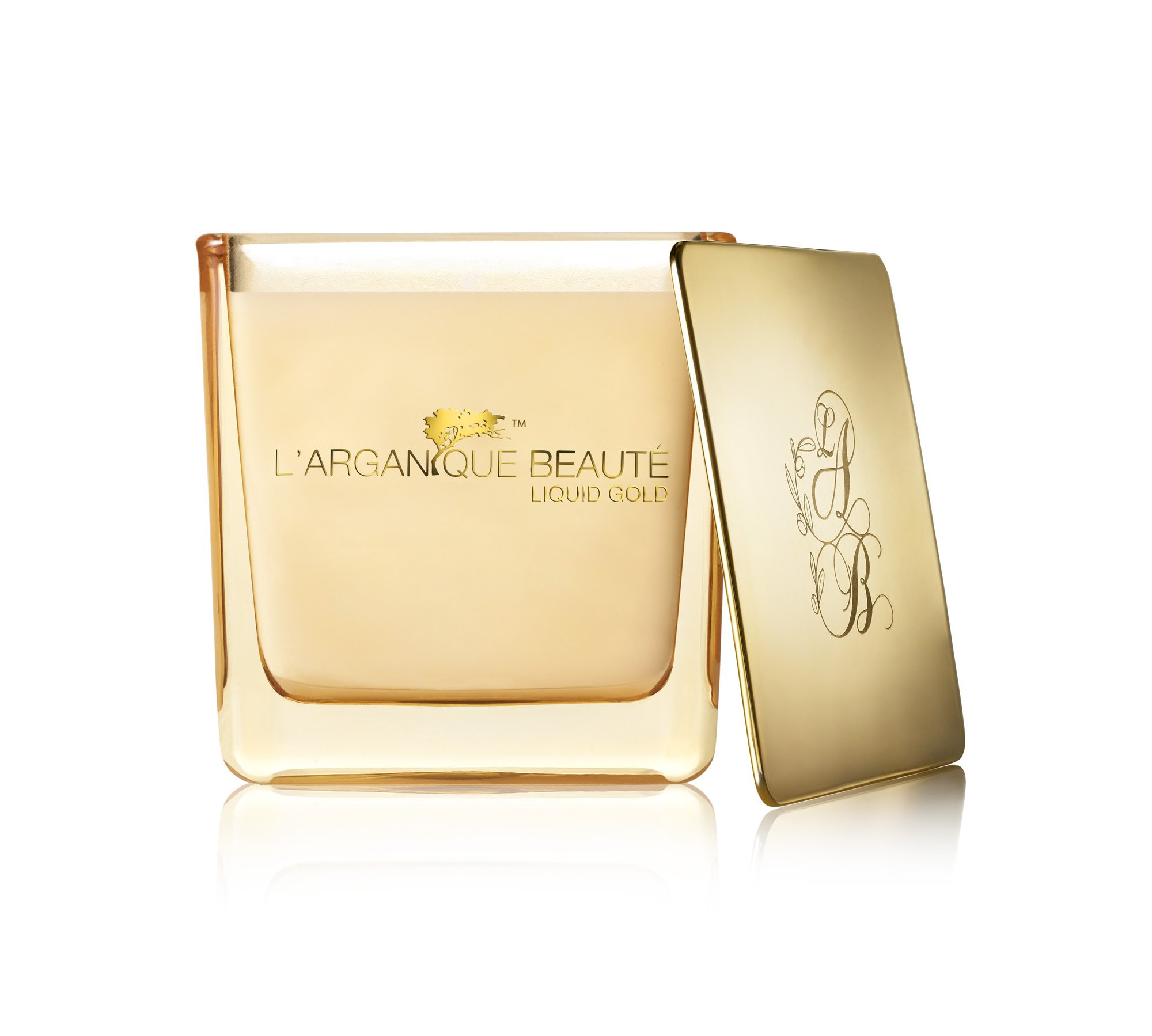 L'arganique Beauté Liquid Gold Luxury Scented Candle, Perfumed Fragrance Spa Candle - Made w/ 100% Soy Wax, Lead-Free Wick, Pure Moroccan Argan Oil Essence; For Baths, Christmas,Gifts, (7.4oz)