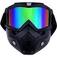 TedGem - Máscara con gafas protectoras desmontables