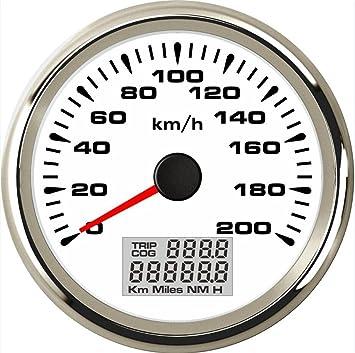 Eling Gps Tachometer Velometer 0 200 Km H Geschwindigkeit Kilometerzähler Kilometerzähler Für Autorennmotorräder Mit Hintergrundbeleuchtung 85 Mm Auto