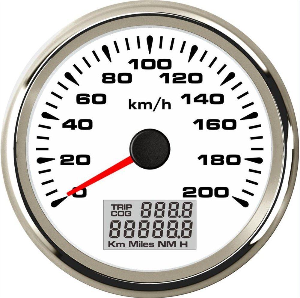 Eling impermeabile 0 –  200 km/h auto GPS Speedometer Velometer contachilometri chilometraggio con 8 diversi retroilluminazione 85 mm