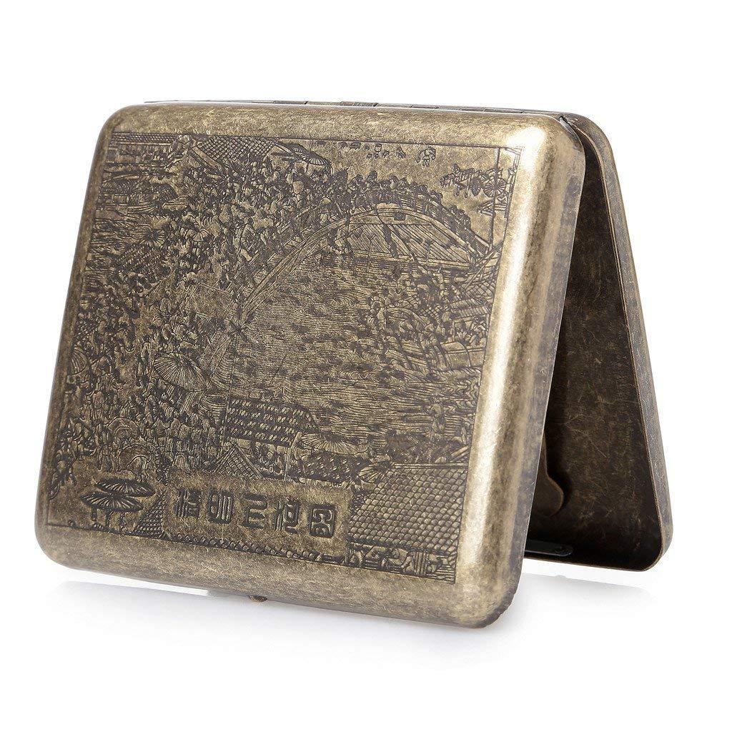 hopewey Metal Cigarette Box, Cigarette case for 20 Cigarettes Cigarette Box Luxuriously Elegant Z2