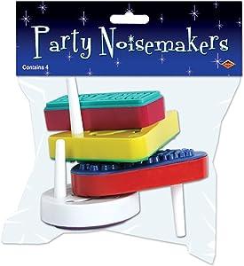 Pkgd Racket Raise 'N Noisemakers (asstd colors) (4/Pkg)